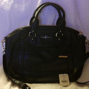 Cole haan structured satchel handbag
